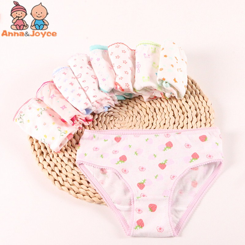 5pc/lot Fashion Baby Girls Underwear Cotton Panties For Girls Kids Short Briefs Children Underwear Suit 1-12years