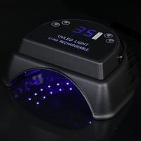 64W 100 240V UV LED Lamp Nail Dryer Cordless Gel Polish Lamp For Nails Art Tools Curing Lamps Manicure Nail UV LED Lamp Dryer