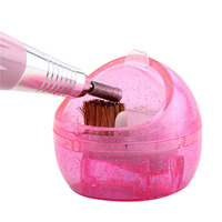 2016 New Great Nail Art Drill Shank Polishing Head Cleaner Professional Hard And Soft Cleaning Brush