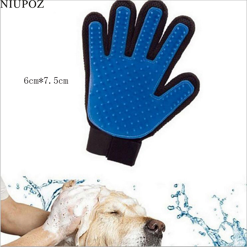 1PC Pet Accessories Cats Dogs Massage Silicone Glove Soft TPR Bath Cleaning Shower Grooming Comb Gloves G181