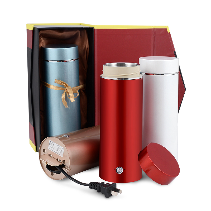 Portable Travel Electric Kettle Water Thermal Heating Boiler Stainless Steel Automatic Heating Tea Pot Coffee Milk Boiling Cup high quality electric kettle double wall insulation quick heating digital electric thermos water boiler home appliances for tea