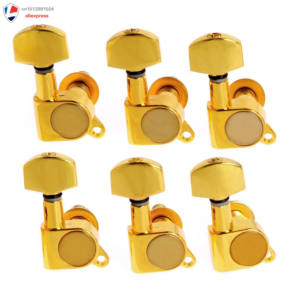 1set of 6R And 3R3L Guitar String Tuning Pegs Tuners Machine Heads Gol