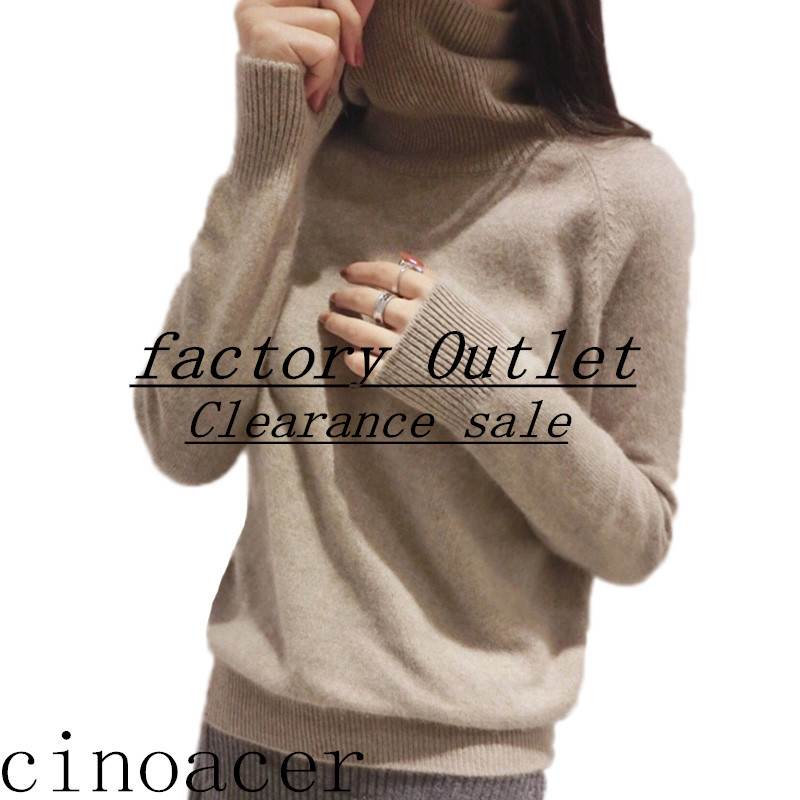 2019 Autumn And Winter New Cashmere Sweater Female High Collar Thick Knit Bottoming Shirt Wild Loose Pullover Sweater