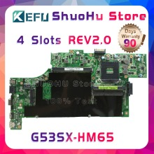 KEFU For ASUS VX7 G53SW G53S G53SX VX7S REV:2.0 HM65 4 SLOTS laptop motherboard tested 100% work original mainboard недорго, оригинальная цена