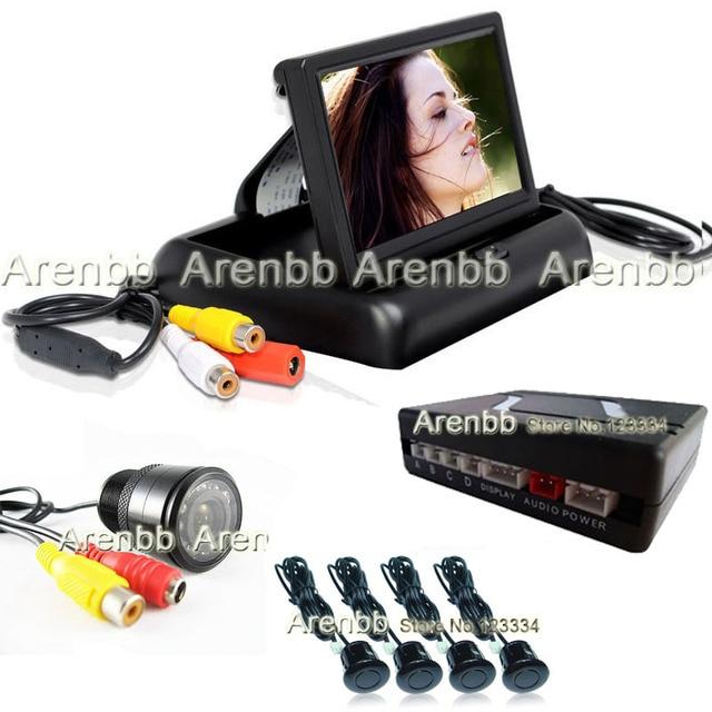 Visible Parking sensor system 4.3 INCH lcd monitor+back up ccd hd camera parking guide line+4 Sensors Parking sensor AR-850