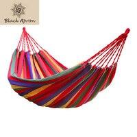 High Quality Hammock Travek Summer Camp Portable Outdoor Garden Hang Bed Rest Swing Canvas Stripe Rainbow