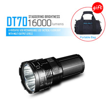 IMALENT DT70 Flashlight Rechargeable CREE XHP70 16000 Lumens 700 Meters USB Charger LED Flashlight 18650*4 Battery Waterproof klarus st10 1100 lumens usb rechargeable compact led flashlight 18650 battery