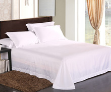 100 egyptian cotton tc white color bedding sheets queen size 3 pieces set flat sheet customize