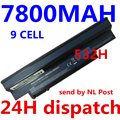 7800 mah bateria para acer aspire one 532 h 533 um09g31 um09g41 um09g51 um09h31 um09h36 um09h41 um09h56 um09h70 um09h73 um09h75