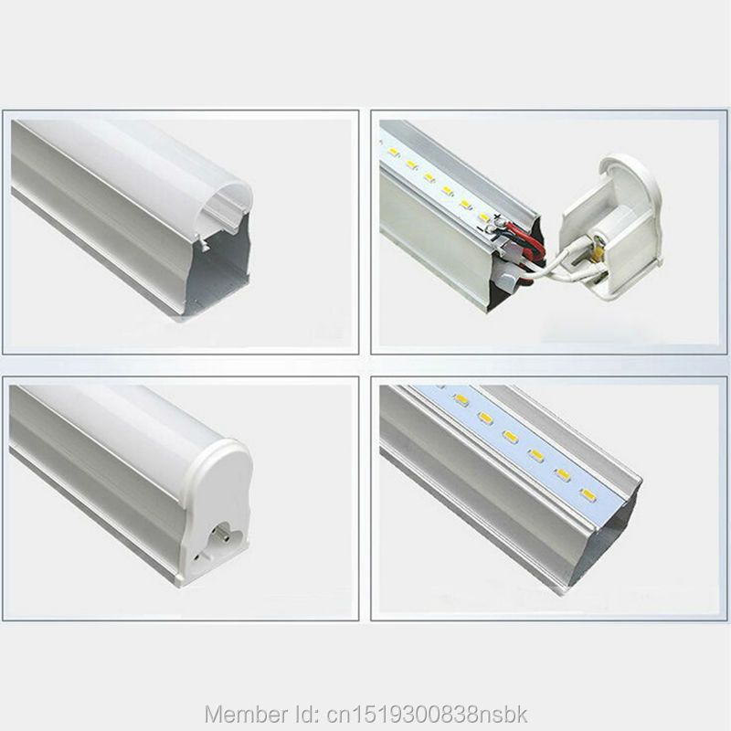 Купить с кэшбэком (50PCS/Lot) 85-265V 3 Years Warranty 600mm 900mm 1200mm 1500mm 2ft 3ft 4ft 5ft T5 LED Tube Light Fluorescent Lamp Daylight