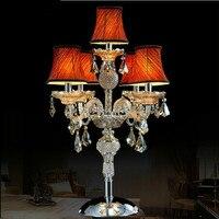 Бесплатная доставка краткое K9 Современные хрустальные настольная лампа Тиффани кристалл настольная лампа настольная Освещение роскошные
