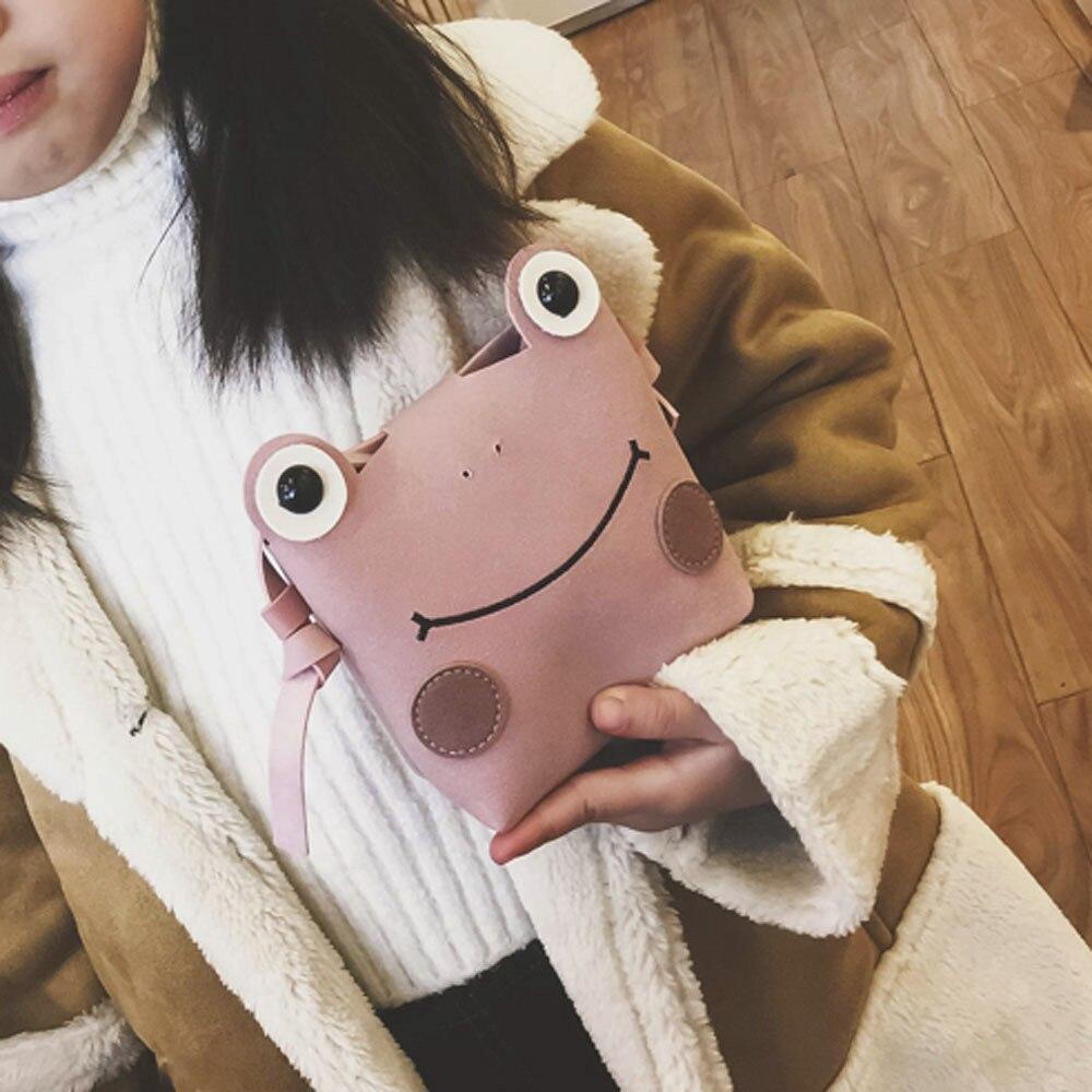 Мода для девочек магазин мультфильм Хлопок Лягушка jewelry сумка мини пряжка клатч маленький вечерние сумка # W