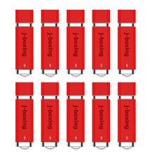 J-boxing 10PCS 1GB USB Flash Drives Bulk 2GB Lighter Design Memory Stick 4GB 8GB Pendrives 16GB 32GB Thumb Drive Red