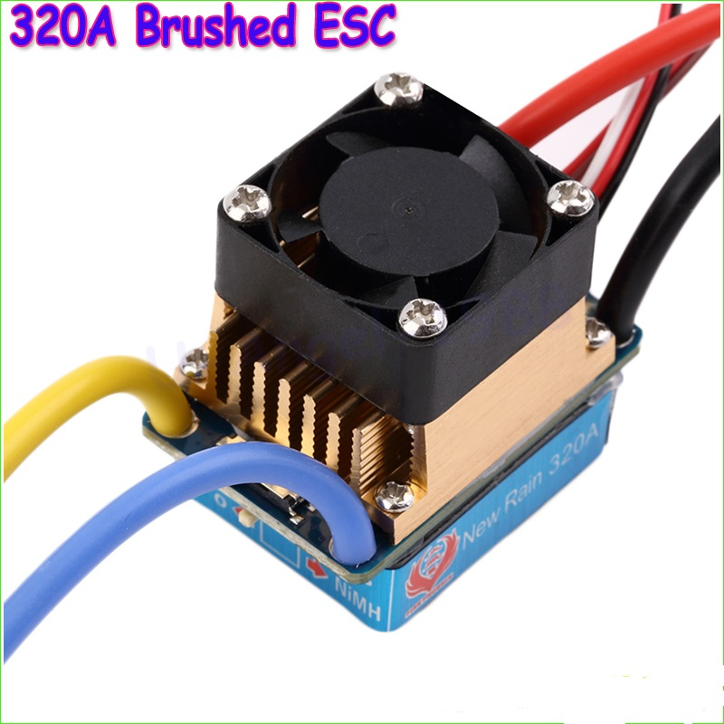 1pcs Waterproof Brushed ESC 320A 3S with Fan 5V 3A BEC T-Plug For 1/10 RC Car Wholesale Dropship lacywear s 35 fan