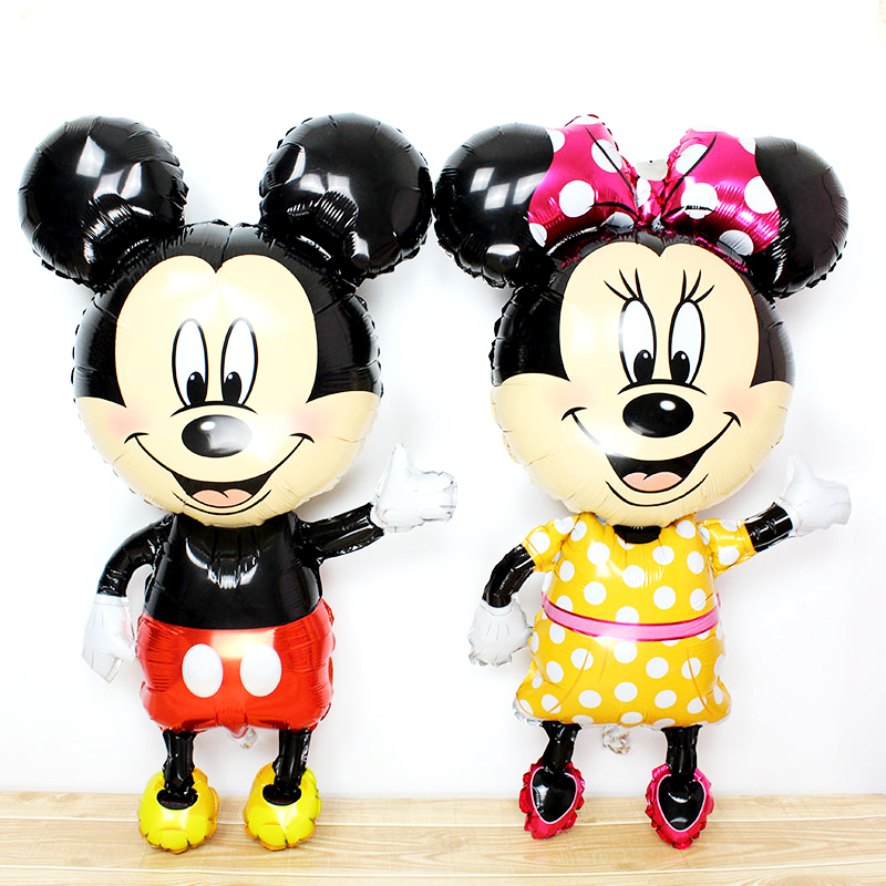 112cm Big Mickey Minnie Balloon Cartoon Foil Birthday Mouse Party Balloon Kids Birthday Party Decorations Classic Toys Ball