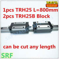 High Quality 25mm Precision Linear Guide 1pcs TRH25 L 800mm Linear Guide Rail 2pcs TRH25B Linear