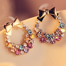 Real Original Crystals From Swarovski Alloy Plated Stud Earrings For Women Girlfriend Brand Jewelry Valentine'S Day Gift DG283