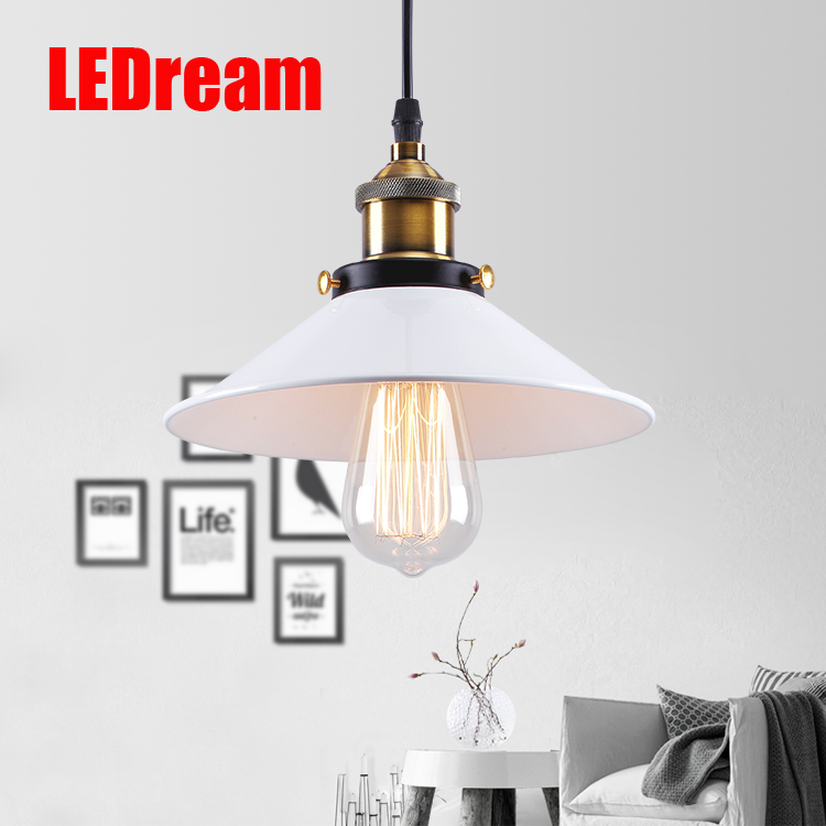Free edison bulb Industrial Pendant Lights Vintage Pendant Lamp  Retro Hanging Lampshade Lighting Restaurant /Bar/Coffee Shop vintage loft industrial edison flower glass ceiling lamp droplight pendant hotel hallway store club cafe beside coffee shop