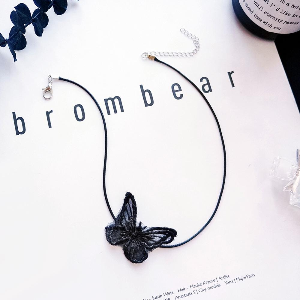 Lace Butterfly Pendant Neck Necklace for Women Jewelry collar choker short necklace female clavicle Chain in Choker Necklaces from Jewelry Accessories