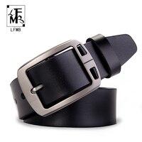 LFMB Male Genuine Leather Strap Designer Belts Men High Quality Leather Belt Men Belts Cummerbunds