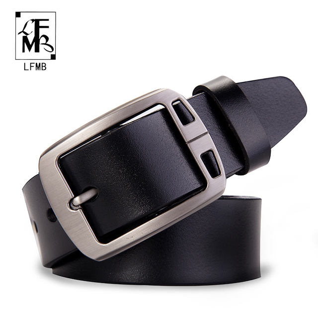 [LFMB] male genuine leather strap designer belts men high quality leather belt men belts cummerbunds luxury brand men belt