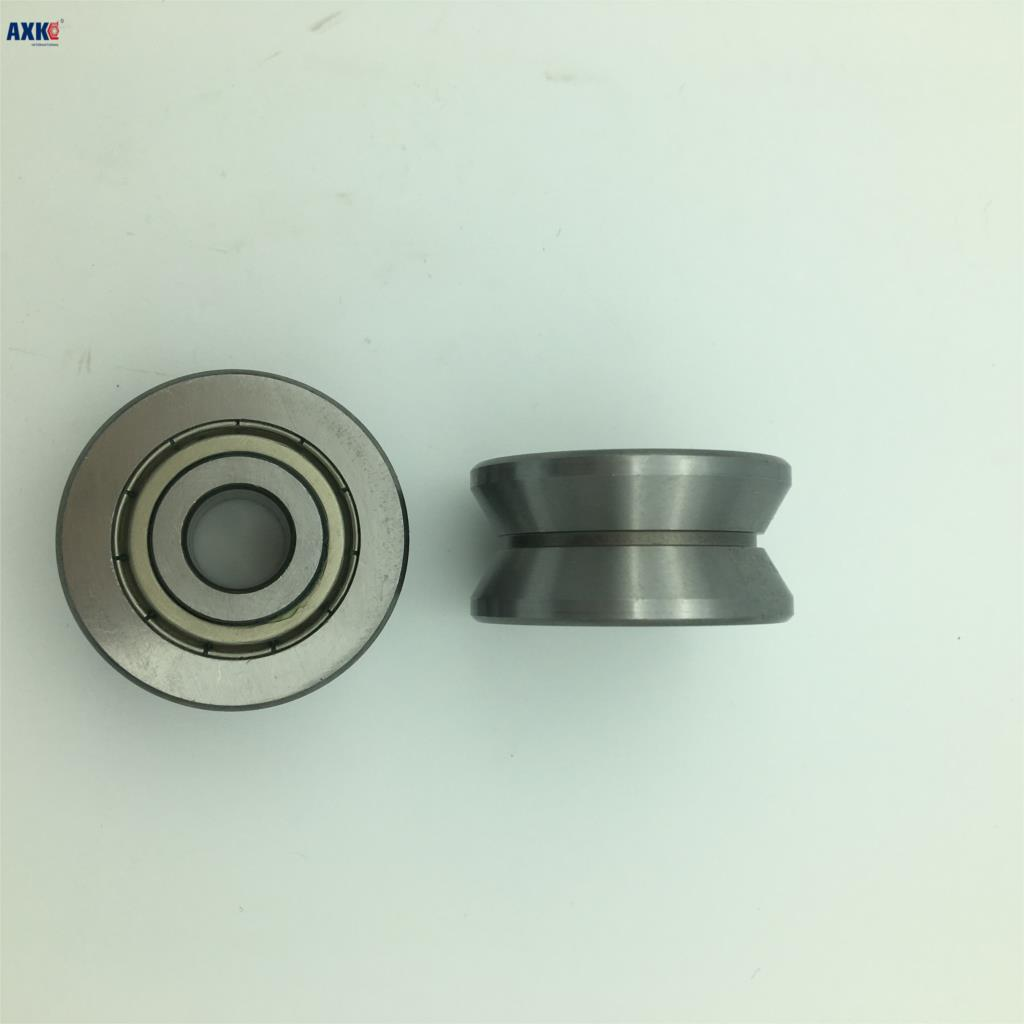 Free shipping high quality TU16 T16 U16 T16.5 ABEC5 6mm pulley bearings 5x16.5x9x11mm U groove roller wheel ball bearing T-U-16 new high quality 4pcs set u groove pulley ball bearing white pom high carbon steel slide flexible ball bearing 6 model choice