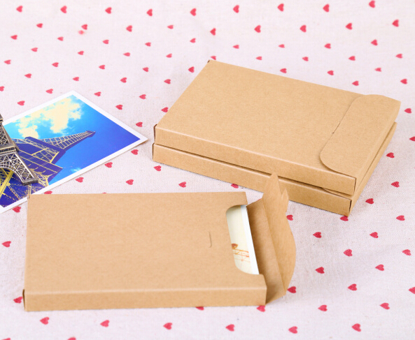 120pcs Whole Kraft Paper Box Envelopes For Invitation Card Letter Packaging Gift Greeting Postcard Photo