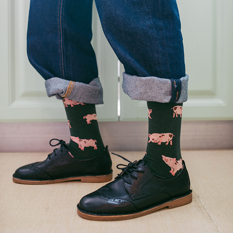 New Arrival Animal Patterned Cartoon Socks Unisex Soft Breathable Cotton Short Socks Harajuku Skateboard Art Socks Funny Sox
