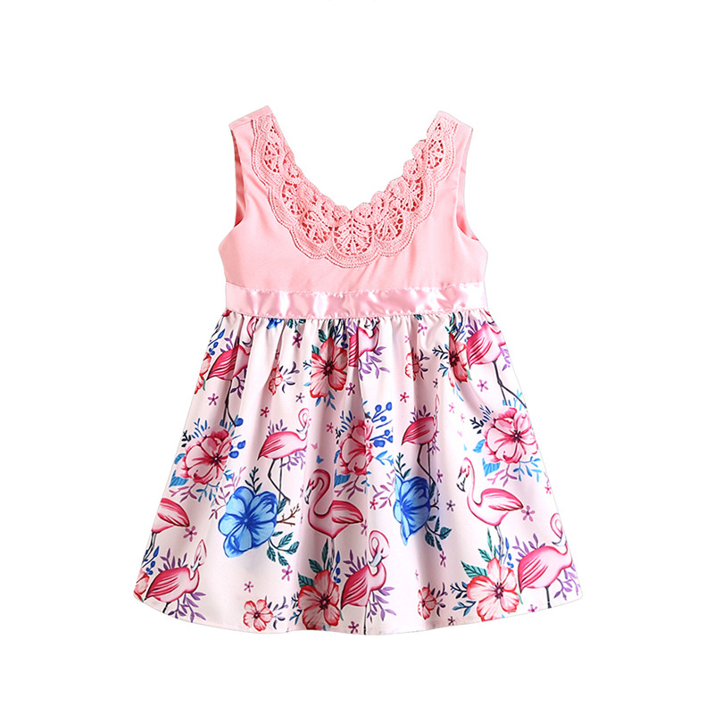 Fashion Toddler Baby Girl Clothes Kid Child Flower Sleeveless Cotton Dress Lace Party Gown Tutu Dresses Sundress baby girl 1st birthday outfits short sleeve infant clothing sets lace romper dress headband shoe toddler tutu set baby s clothes