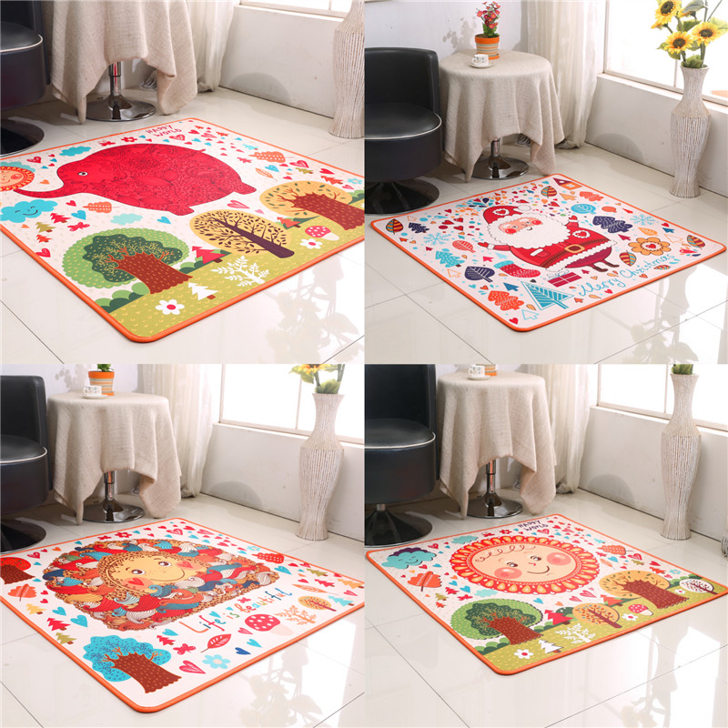 New arrival cartoon child bed rug table mats Cute cartoon children bedroom bedside carpet living room coffee table pad den