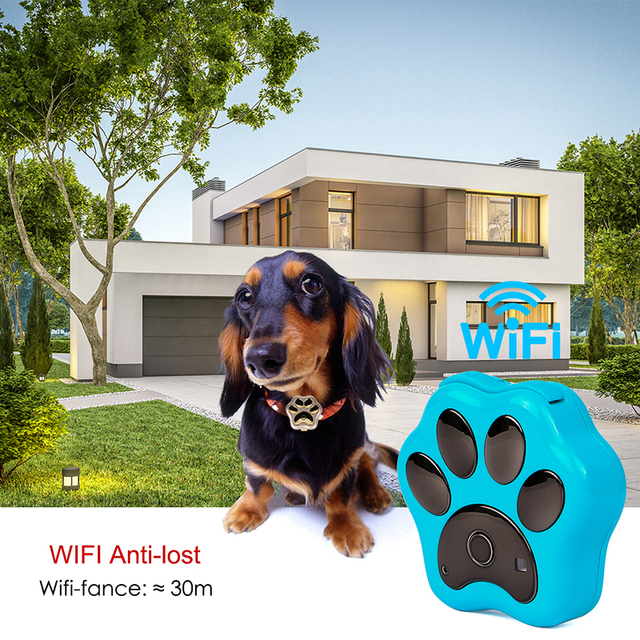 Smart Waterproof IP66 Mini Pet GPS  Realtime Tracking LED Rolling Light Long Time Standby  2
