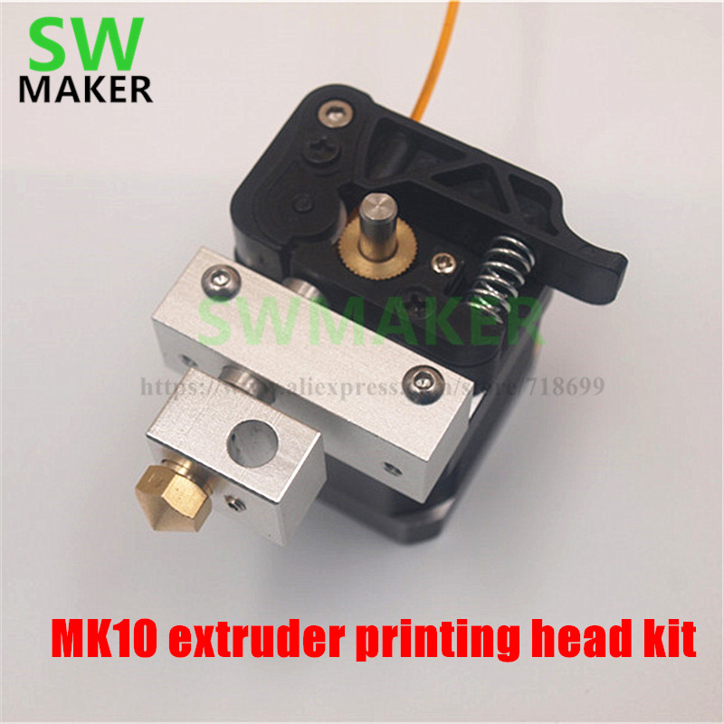SWMAKER MK10 extruder printing head kit 1.75mm extrusion set with NEMA17 stepper motor for Reprap Prusa/Wanhao 12/24V Assemble брюки topshop topshop to029ewarxu5