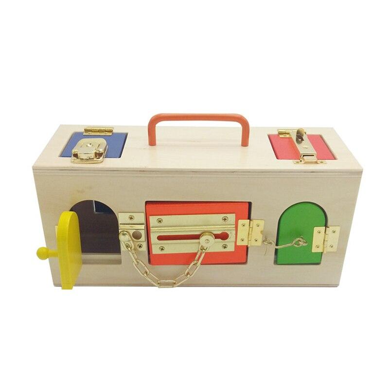 ФОТО Montessori Materials Different Lock International Edition For Kid Preschool Educational Toy Colorful Safe Top Grade Tool