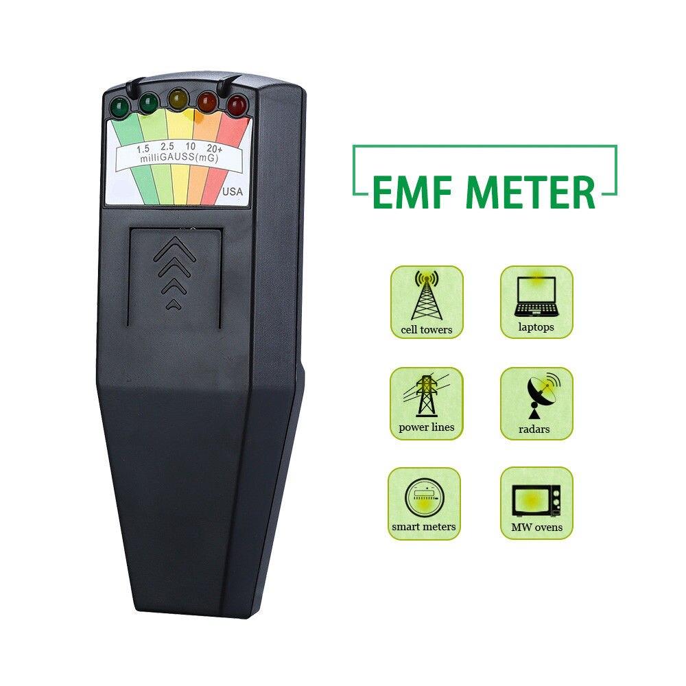 SEESII EMF Meter Radiation Detector Electromagnetic Tester For Laptop Mobie Phone WIFI Router TV Screen House Alarm Tool tes 1333 solar power meter digital radiation detector solar cell energy tester