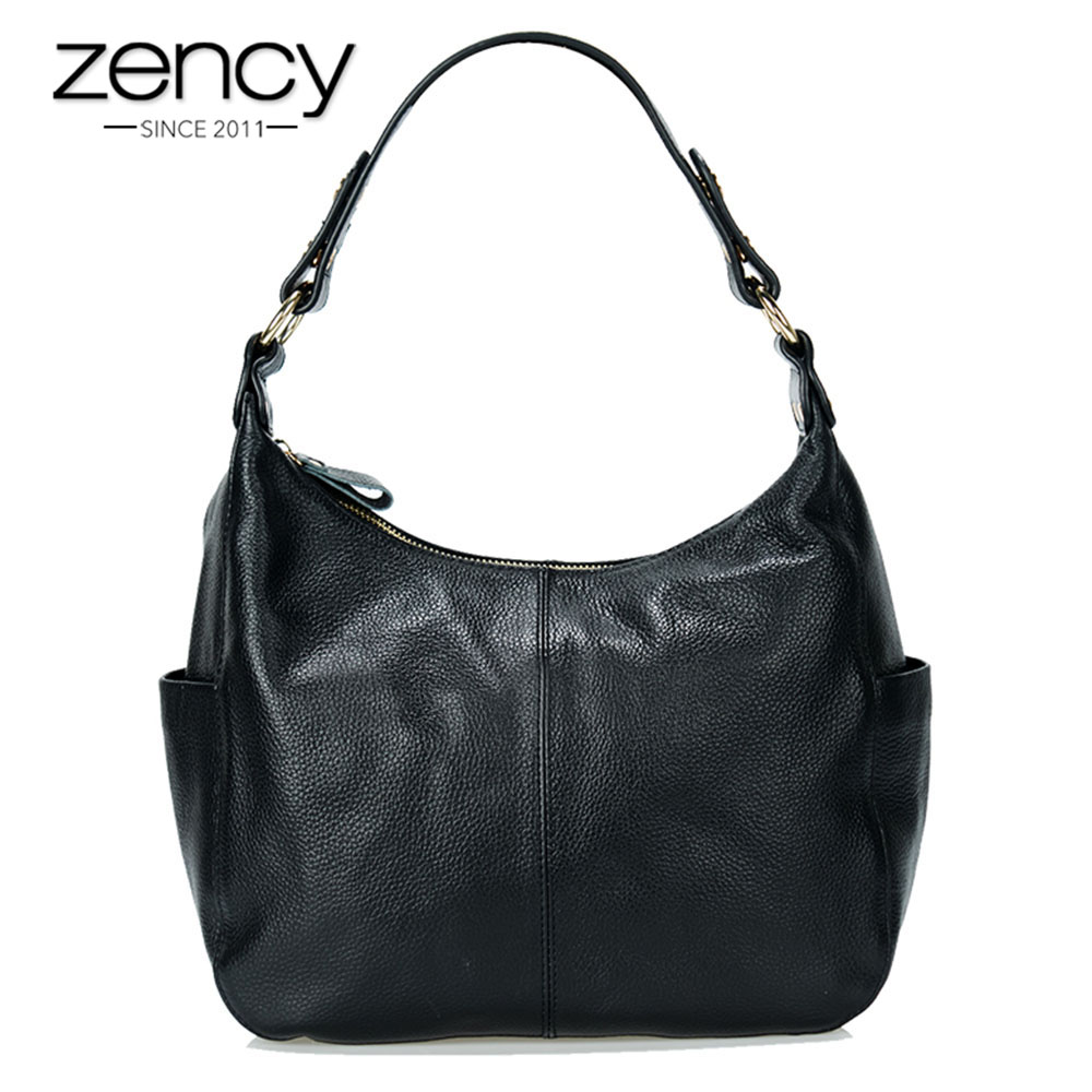 Zency New Arrivals 100% Real Leather Women Shoulder Bags Fashion Hobos Super Quality Ladies Handbags Messenger Crossbody Purse zency 2017 new 100