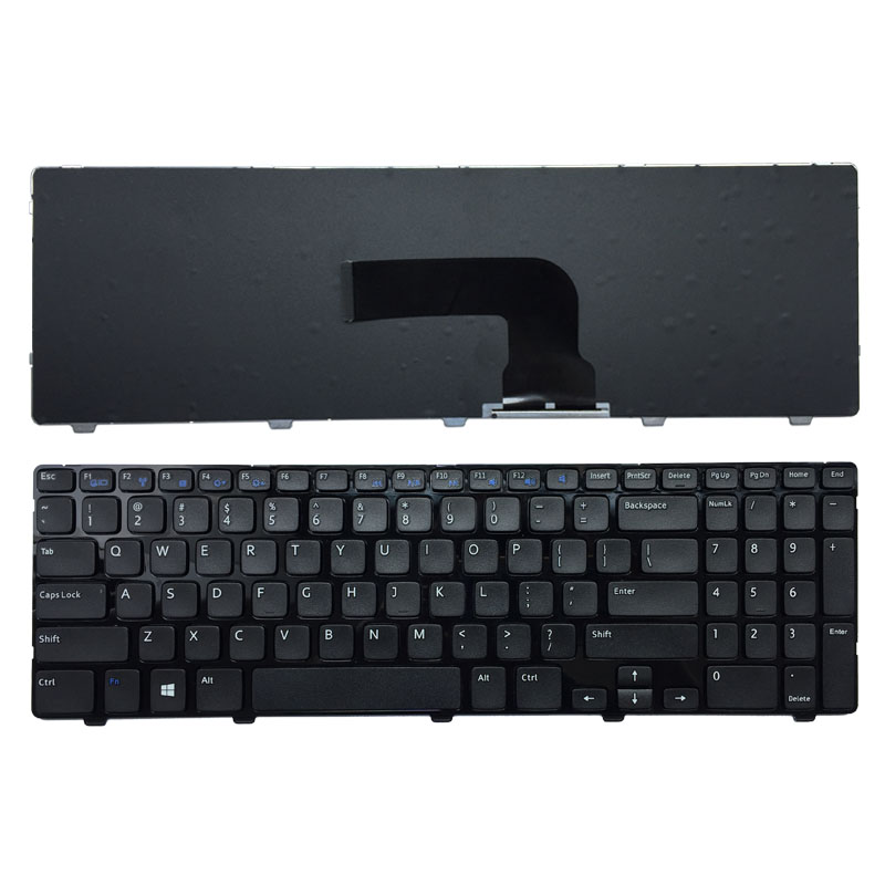 New for <font><b>Dell</b></font> Inspiron 15 3521 15R 5521 2521 <font><b>3540</b></font> 3000 US Black Keyboard with Frame image