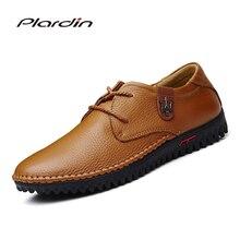 Plardin/Для мужчин ботинки из натуральной кожи зимние ботинки Модная обувь на платформе резные Оксфорд Мужская обувь корова Разделение Сапоги и ботинки для девочек обувь мужские туфли на плоской подошве