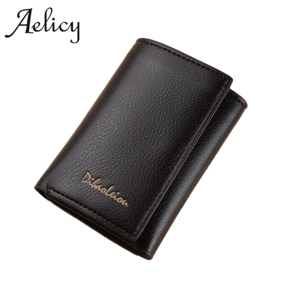 Aelicy Unisex women wallet Leather Men Wallet Purse Female Card Holder Small Clutch bags wallet coin mini Purse high quality