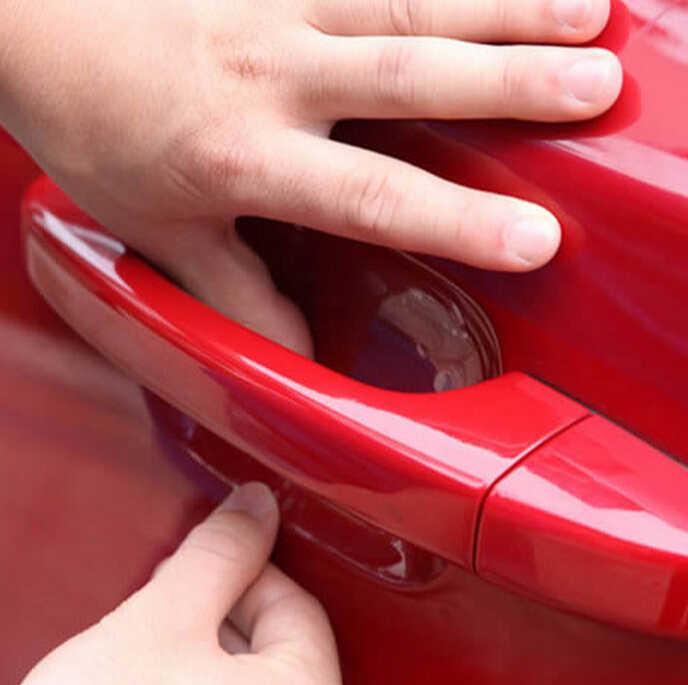 2018 جديد مقبض باب السيارة ملصقات غشاء واقي لأوبل تويوتا رينو أودي A3 كيا ريو K2 فولكس واجن باسات B5 B6 اكسسوارات