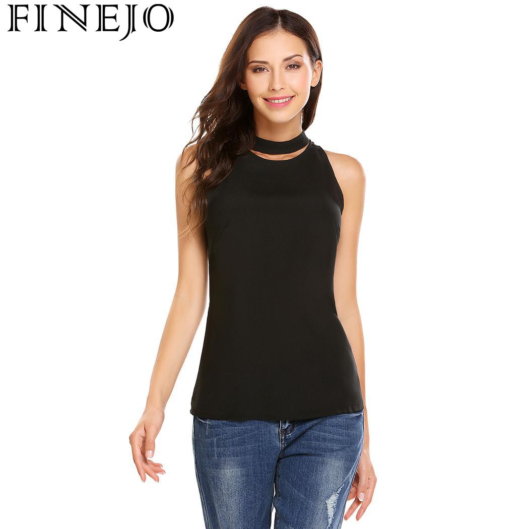 cf44be39ce799 Finejo sleeveless fashion mock collar women solid keyhole tank tops jpg  1050x1050 Keyhole tank tops