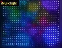 3X3M LED Video Curtain DMX RGB Starcloth DJ Vision Curtain Motion LED drape