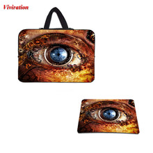 New Arrival Personality Of The Mechanical Eye Design Notebook Bag 17 10 12 13 14 15 Neoprene Bag Cases+Computer Gaming Mouse Pad