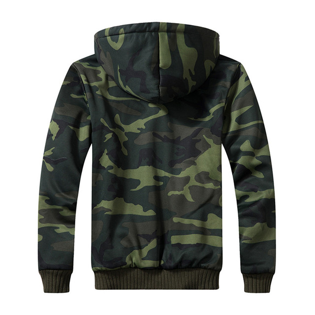 Autumn And Winter Military Camouflage Jacket For Men Fashion hooded Plus Velvet Coat Army Tactical Clothing Male Windbreakers 3