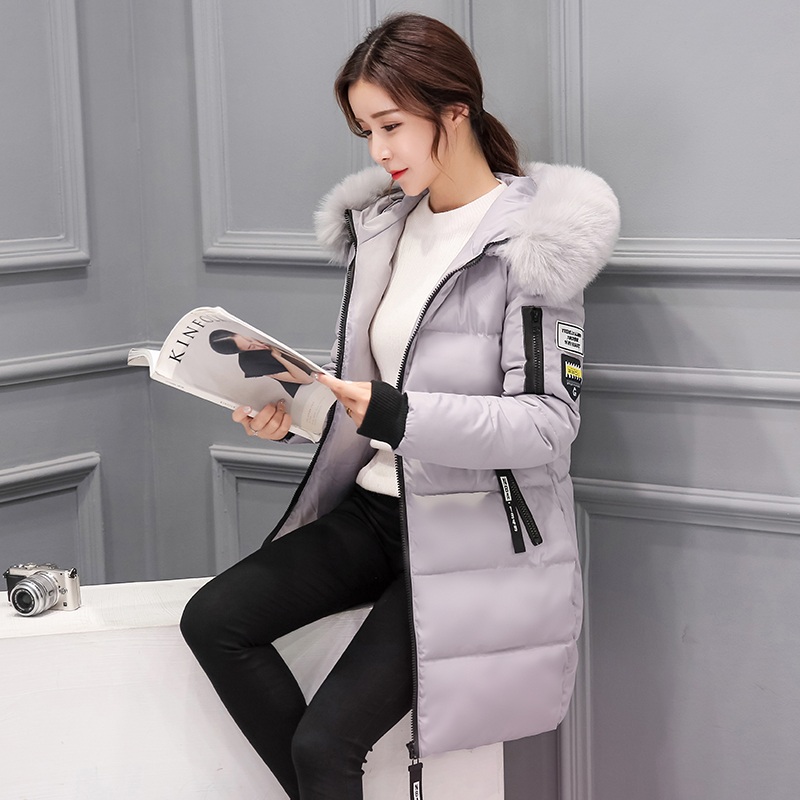 New Winter Down Jacket Female Parka Coat Long Plus Size Long Hooded Duck Down Coat Sport Jacket Women slim fit ruffle long sleeved hooded quilted coat for women