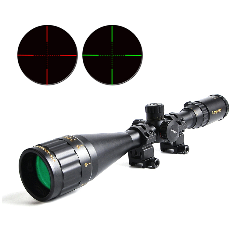 LEAPERS 4-16X50 Golden Marking Tactical Optic Riflescope Red&Green Illuminated Mil-Dot Rifle Scope Optic Sight for Caza