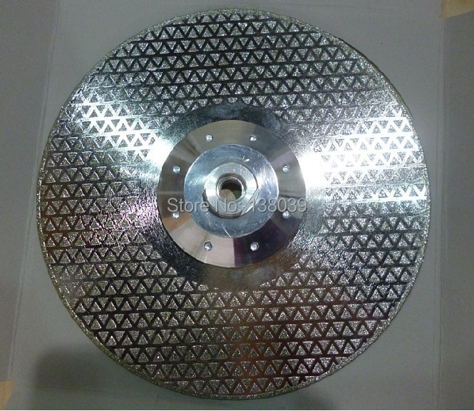 180mm 7'' Diamond Cutting And Grinding Discs For Marble Granite With Flange Double Sides Coated With Diamond