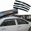 4 pcs Janelas de Ventilação Viseiras Chuva Guarda Sol Escudo Escuro Defletores Para Toyota Vios 2003-2007