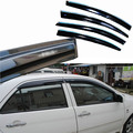 4pcs Windows Vent Visors Rain Guard Dark Sun Shield Deflectors For Toyota Vios 2003-2007