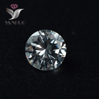 YanRuo 1357 100pcs 8mm Round White Shiny Cubic Zirconia Glitter Rhinestones 3d Tiny Zircon Nail Art