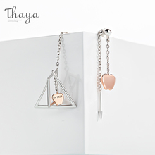 Thaya 925 Silver Earrings Universal Gravitation Design Pendant Korea Fantasy style Party Jewelry For Women Gift